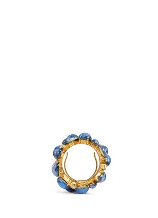 Figure View - Click To Enlarge - Kenneth Jay Lane - Opalescent glass cabochon cluster ring