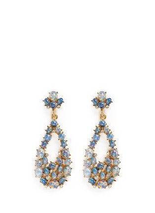 Main View - Click To Enlarge - Kenneth Jay Lane - Opalescent glass cabochon cutout drop earrings