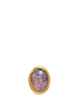 Main View - Click To Enlarge - Kenneth Jay Lane - Opalescent glass cabochon ring