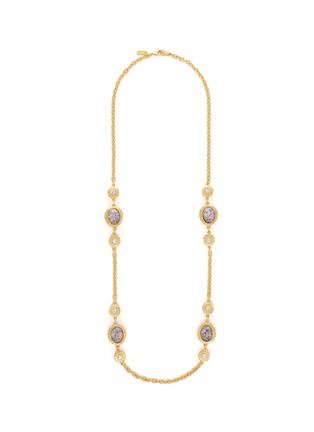 Main View - Click To Enlarge - Kenneth Jay Lane - Opalescent glass cabochon cable chain necklace
