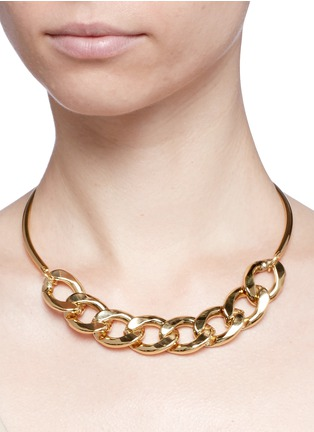 Figure View - Click To Enlarge - KENNETH JAY LANE - Curb chain collar necklace