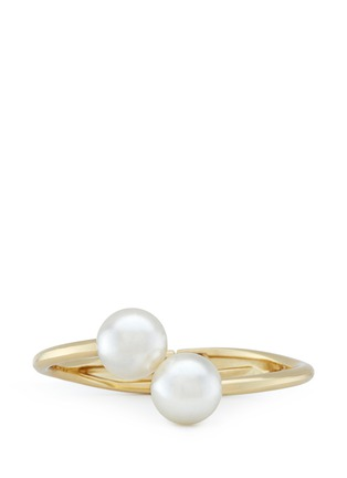 Main View - Click To Enlarge - Kenneth Jay Lane - Twin glass pearl bangle