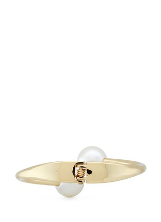 Figure View - Click To Enlarge - Kenneth Jay Lane - Twin glass pearl bangle