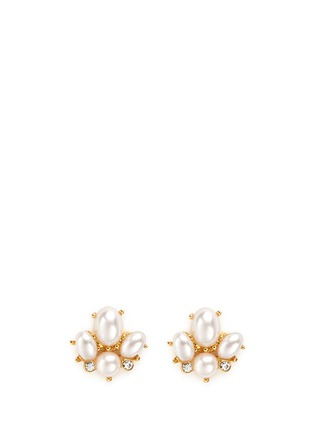 Main View - Click To Enlarge - Kenneth Jay Lane - Glass pearl stud earrings