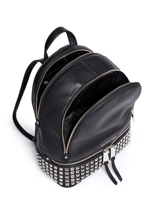 Detail View - Click To Enlarge - MICHAEL KORS - 'Rhea' small stud leather backpack