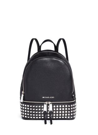 Main View - Click To Enlarge - MICHAEL KORS - 'Rhea' small stud leather backpack