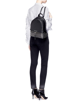 Figure View - Click To Enlarge - MICHAEL KORS - 'Rhea' small stud leather backpack