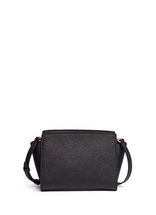 Back View - Click To Enlarge - MICHAEL KORS - Selma' medium saffiano leather messenger bag
