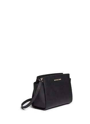 Front View - Click To Enlarge - MICHAEL KORS - Selma' medium saffiano leather messenger bag