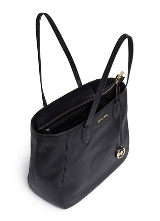 Detail View - Click To Enlarge - Michael Kors - 'Ani' large top zip pebbled leather tote