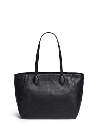 Back View - Click To Enlarge - Michael Kors - 'Ani' large top zip pebbled leather tote