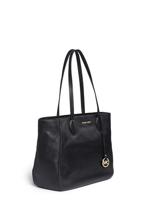 Front View - Click To Enlarge - Michael Kors - 'Ani' large top zip pebbled leather tote