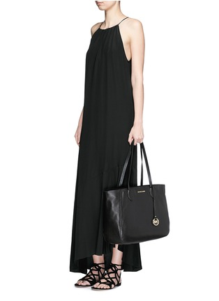 Figure View - Click To Enlarge - Michael Kors - 'Ani' large top zip pebbled leather tote