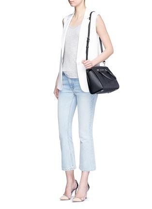 Figure View - Click To Enlarge - MICHAEL KORS - 'Selma' medium perforated leather satchel