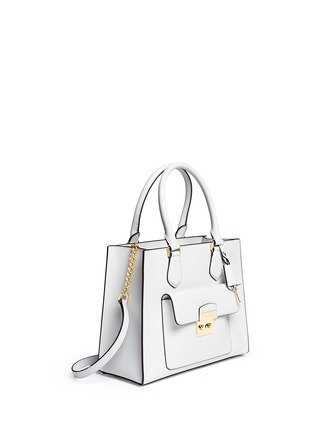 Front View - Click To Enlarge - Michael Kors - 'Bridgette' medium saffiano leather boxy tote