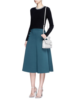 Figure View - Click To Enlarge - MICHAEL KORS - 'Ava' extra small perforated leather crossbody bag