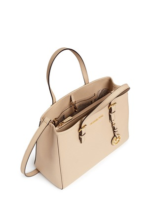 Detail View - Click To Enlarge - Michael Kors - 'Jet Set Travel' medium saffiano leather east west tote