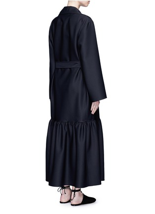 Back View - Click To Enlarge - The Row - 'Alexander' peplum hem belted coat
