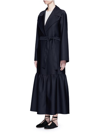 Front View - Click To Enlarge - The Row - 'Alexander' peplum hem belted coat