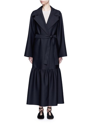 Main View - Click To Enlarge - The Row - 'Alexander' peplum hem belted coat