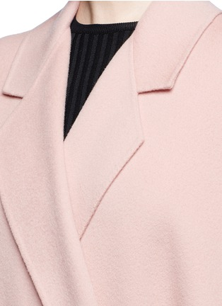 Detail View - Click To Enlarge - Helmut Lang - 'Cape' oversize double face wool-cashmere coat