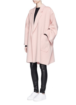 Figure View - Click To Enlarge - Helmut Lang - 'Cape' oversize double face wool-cashmere coat