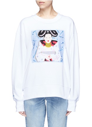 Main View - Click To Enlarge - Ground Zero - Björk CD cover embroidery sweatshirt