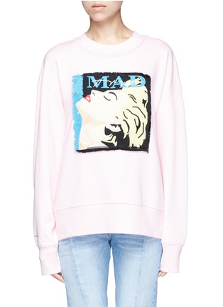 Main View - Click To Enlarge - GROUND ZERO - Madonna CD cover embroidery sweatshirt