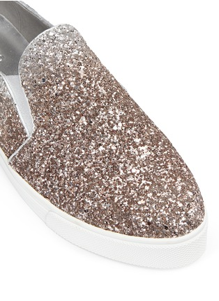 Detail View - Click To Enlarge - Pedder Red - 'Daly' dégradé coarse glitter skate slip-ons