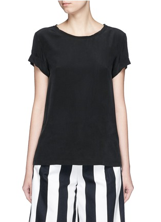 Main View - Click To Enlarge - Theory - 'Bakeeve' fold cuff silk georgette T-shirt