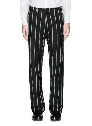 Main View - Click To Enlarge - Uma Wang  - 'Vittorio' chalk stripe wool-linen wide leg pants