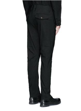 Back View - Click To Enlarge - UMA WANG  - 'Felix' slim fit stretch linen pants