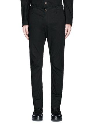 Main View - Click To Enlarge - UMA WANG  - 'Felix' slim fit stretch linen pants
