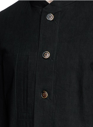Detail View - Click To Enlarge - Uma Wang  - 'Franco' stretch linen jacket