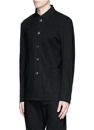 Front View - Click To Enlarge - Uma Wang  - 'Franco' stretch linen jacket