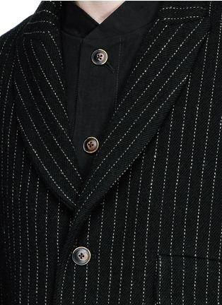 Detail View - Click To Enlarge - Uma Wang  - 'Tommaso' pinstripe wool cavalry twill coat