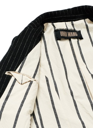 - UMA WANG  - 'Tommaso' pinstripe wool cavalry twill coat