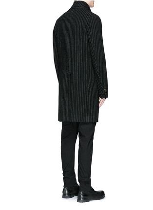 Back View - Click To Enlarge - Uma Wang  - 'Tommaso' pinstripe wool cavalry twill coat
