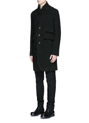 Front View - Click To Enlarge - Uma Wang  - 'Tommaso' pinstripe wool cavalry twill coat