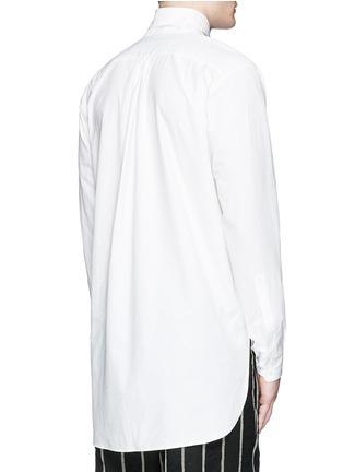Back View - Click To Enlarge - Uma Wang  - 'Martino' bib front cotton shirt