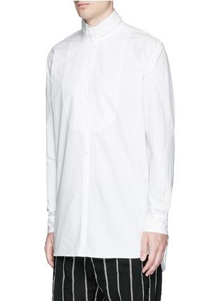 Front View - Click To Enlarge - Uma Wang  - 'Martino' bib front cotton shirt