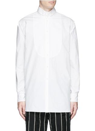 Main View - Click To Enlarge - Uma Wang  - 'Martino' bib front cotton shirt