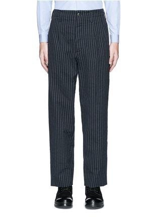 Main View - Click To Enlarge - Uma Wang  - 'Osaka' stripe cotton-wool curved pants