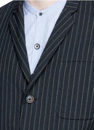 Detail View - Click To Enlarge - Uma Wang  - 'Gabriele' stripe cotton-wool jacket