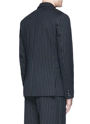 Back View - Click To Enlarge - Uma Wang  - 'Gabriele' stripe cotton-wool jacket