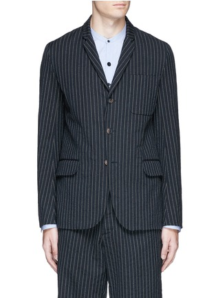Main View - Click To Enlarge - Uma Wang  - 'Gabriele' stripe cotton-wool jacket