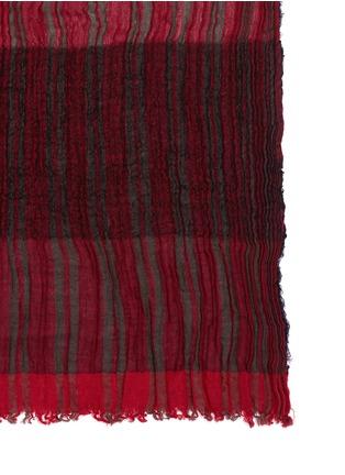 Detail View - Click To Enlarge - Uma Wang  - Colourblock stripe scarf