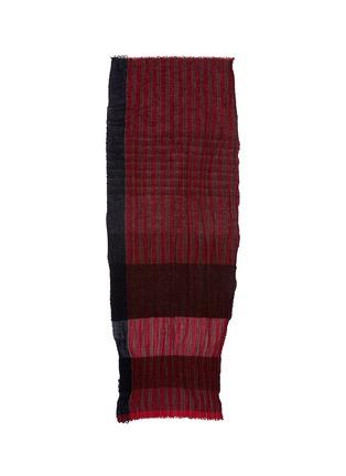 Main View - Click To Enlarge - Uma Wang  - Colourblock stripe scarf