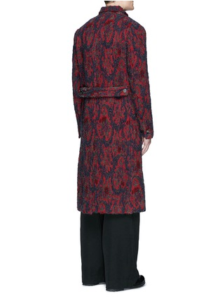 Back View - Click To Enlarge - UMA WANG  - 'Richard' double breasted bouclé jacquard coat