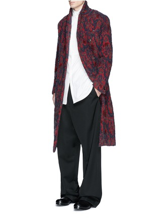 Figure View - Click To Enlarge - UMA WANG  - 'Richard' double breasted bouclé jacquard coat